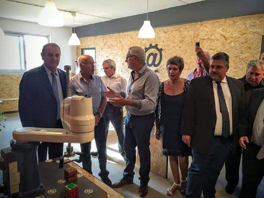 Inauguration des locaux de l'entreprise Europe Info Services à Hérépian le 23 Septembre 2016